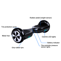Hot sales suv self balancing electric scooter with led lights for children and adults