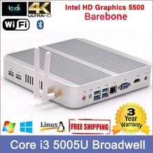 5th Gen intel Core i3 Desktop host processor intel dual core 2.00 ghz 300M WIFI Dual 4K resolution integrated desktop computers