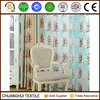 2015 new product beautiful leaf pattern embroidered voile curtains