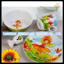 fine chineses porcelain 4 pcs unbreakable dinner set for kids