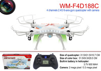 WinMart toys2.4G 4 channel 6 axis rc quadcopter with LED light camera 0.3/2mp rc drone