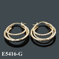 Fashion Indian Gold Hoop Earrings, Bijouterie China