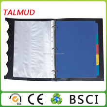 Paper cover with metal 4-ring binder mechanism