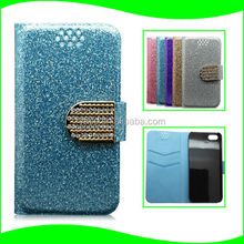 Factory Price Slim Diamond Wallet Bling Case for iPhone 5