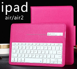 folding stand Flexible bluetooth keyboard PU leather case for Ipad 2