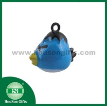 HouSon HS1190 Metal Crafts wrathful animal shaped bell blue Birds small jingle bell Birds metal bell