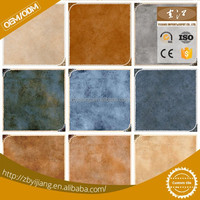 Rustic ceramic blue and white floor tile