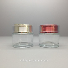 HS-22 Cosmetic Glass Jar with screw cap glass container