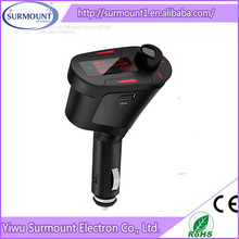 Hot Selling Bluetooth car audio mp3 cd player adapter Universal audio FM Transmitter with sd slot