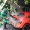 CE 30 bar mobile diesel vapor car wash equipment /steam car cleaner