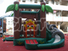 Hot inflatable elephant jungle bouncer with slide for sale