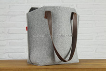 100% Wool Felt Sholder Bags Pure Vegetable Tanned Leather