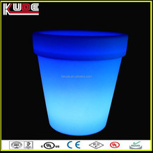 led rechargeable lithium battery flower pot LED illuminated plant pot for outdoor
