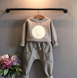 2015 AUTUMN WINTER KIDS CASUAL FASHION THICK CLOTHING SETS,THICK HOODIE+HAREM PANT