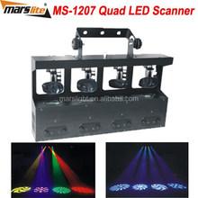 4pcs 10W RGBW 4in1 mirror rotation scanner light