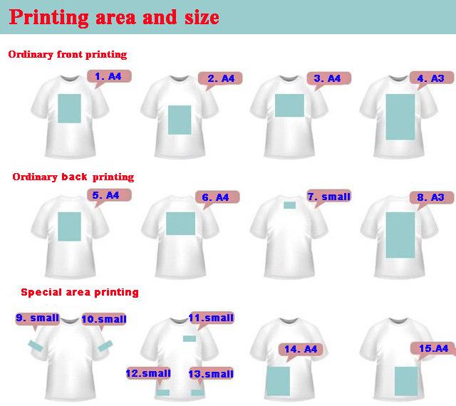 Small Order Screen Printing Custom Printed White T Shirt