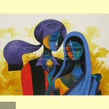 Handmade modern abstract human figure oil painting,family
