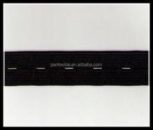 Custom high quality button hole elastic tape