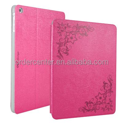 Floral flip folio case cover for iPad air