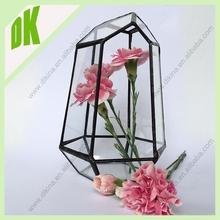^2015 hot flower vase decoration ornament + ornaments for flower arrangements + geometric glass arrange artificial flowers vase