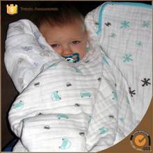 woven blanket factory china super soft custom printing cotton baby muslin swaddle blanket