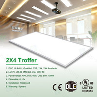 Flat LED WW fast delivery top selling high warranty 2015 2*4 ft 80W UL&cUL DLC ultra thin led light panel with white frame