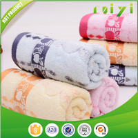 fully cotton customized jacquard apple and umbrella pattern face towel