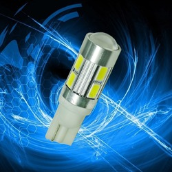 T10 W5W 10 5630 SMD LENS LED For Car Auto Rear Side Parking Lamp Bulb
