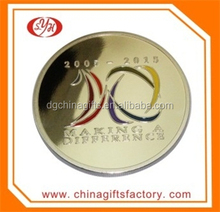 2015 Top Sell Custom New Style Souvenir metal Coin with Acrylic Box