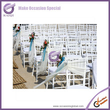 #20821 wholesale wedding and event chairs artificial flower satin ribbon