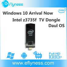 win10 window 10 w5 bt-w5 4k2k 1080p Intel z3735f android 4.4 kodi 15 wintel mini pc tv dongle w5