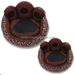 Special Paws Shape Soft Rabbit Pet Dog Cat Doggy Kennel Stylish Warm House Bed