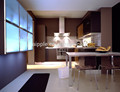 De color rojo oscuro de la cocina del gabinete pkc-227