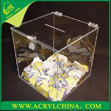 Acryl wahlurne, lucite acryl-box für 2015, standgerät acryl wahlurne