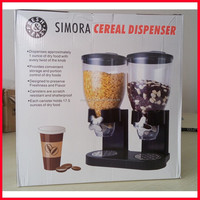 Plastic Bulk Dry food Dispenser countertop dual and single cereal Dispenser Candy Food dispenser