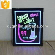 "23"" x 16"" Illuminated Wet Erase Board, Hanging, Portrait or Landscape - Black Fluorescent Signage"