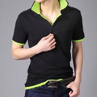 Cotton Double neck Polo t shirt for men