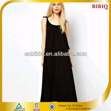 Black Chiffon Maxi Women Clothes Wholesale