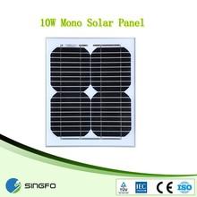 Green 10W Mini High efficiency Mono Solar Panel