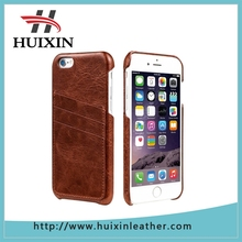 Genuine leather full grain Leather case 3 card slots leather for apple phone case