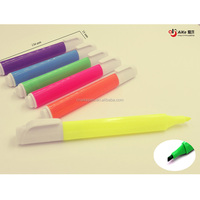 Highligters 6 Bright Color Assorted Promotional Triangular pen chisel point