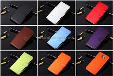 Wholesale Various colors stand leather genuine leather phone case for galaxy A8 A8000 fast shipping