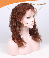 2015 New Design 6A grade Virgin Brazilian Hair Natural Hairline Italian Curl Human Hair Lace Wigs