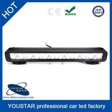 single row aluminum housing 120 watt atv accessory straight 20Inch led rotary light bar