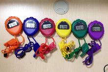 Sport stopwatch with whistle/multi-color digital stopwatch/sport timer for schools