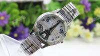 2015 fashion eiffel tower beatiful girl pattern grey hand watches for girl