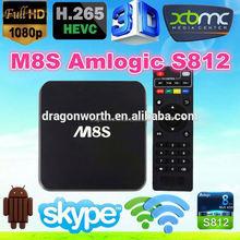 M8 M8s M8C s802 Full HD Media Player 4k 3D 1080p Android TV Box Quad Core box iptv account MAG 250 MAG 254 home strong iptv