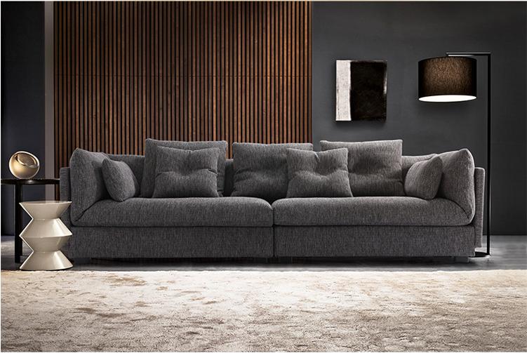 Italienisch moderne schlichte design grau stoff sofa for Sofa aufblasbar