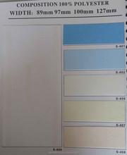 plain color office decor vertical blinds, lattest designer polyester curtain fabric
