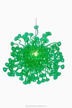Verde iluminación para el hogar baratos Modern Wholesale araña cristal Prisms
